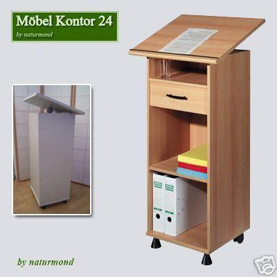 Stehpult Rednerpult buchefarben - Möbel Kontor 24