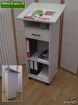 Stehpult Rednerpult lichtgrau - Möbel Kontor 24